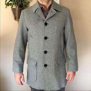 Vintage grey Pendleton pure virgin wool coat.